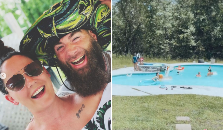 First Glimpse Into Teen Mom Star Jenelle Evans' Backyard Oasis