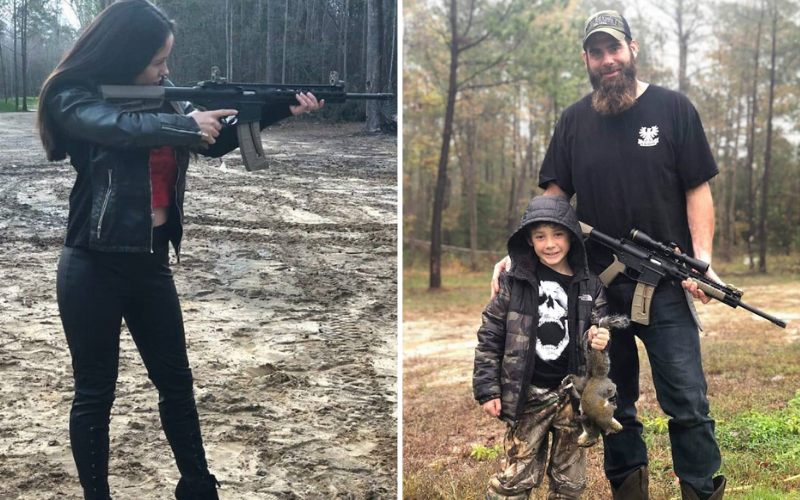 jenelle and david with guns