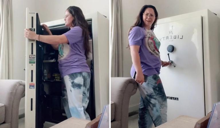 Teen Mom Star Jenelle Evans Keeps This Massive Gun Safe In Her Living Room