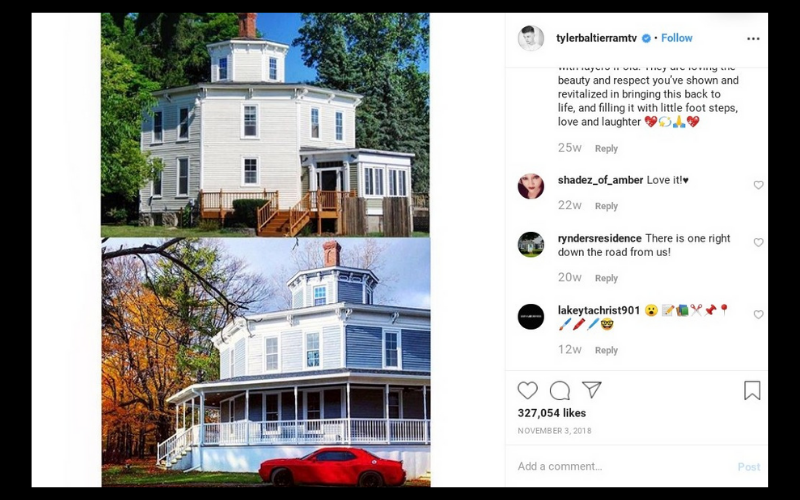 tyler post about house