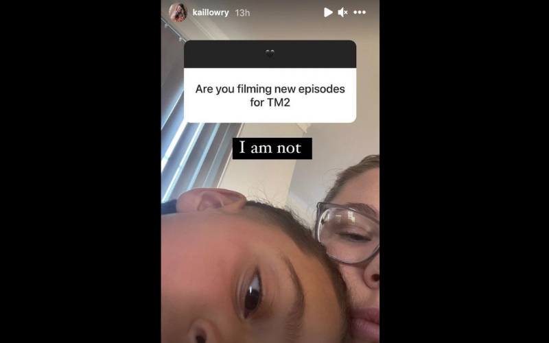 Kail is not filming
