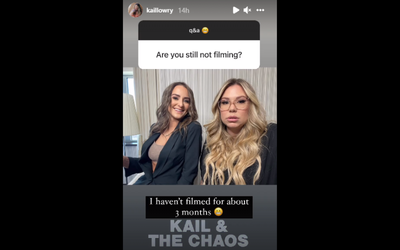 kail not filming